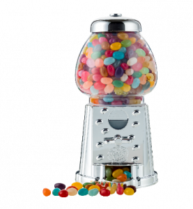 A machine filled with Jelly Beans