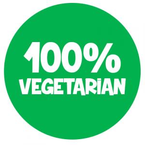 100% vegetarian circle