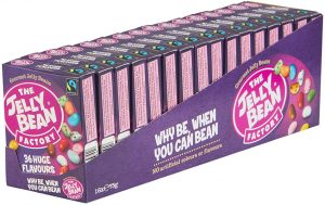 A selection of The Jelly Bean Factory Jelly bean boxes